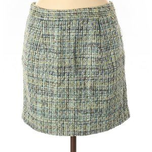 NWT tweed mini skirt with pocket aqua green